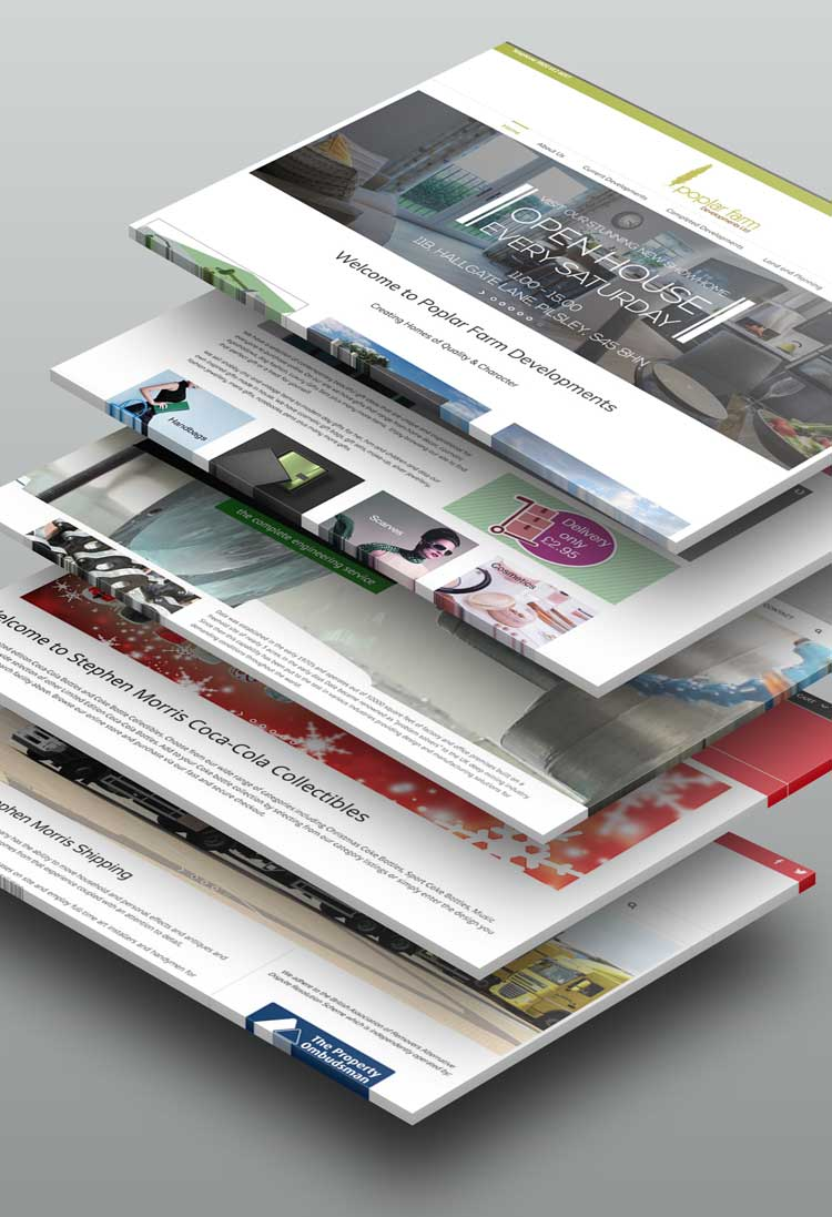 Web Design in Chesterfield, Derbyshire, UK